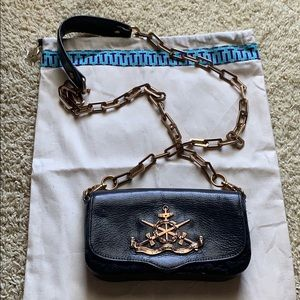 Tory Burch Small Black Leather Crossbody Handbag